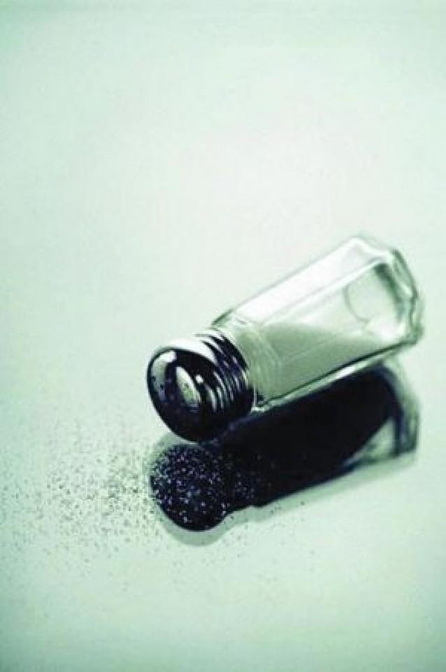 Menos sal en los alimentos