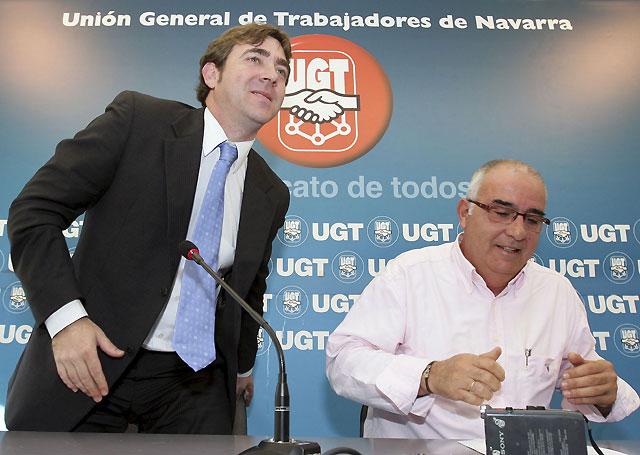 UGT traslada al PSN la necesidad de unos Presupuestos Generales de Navarra que contribuyan a generar riqueza