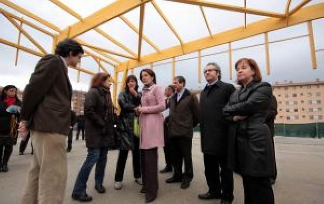 El colegio Cardenal Ilundáin contará con una pista cubierta antes de fin de año