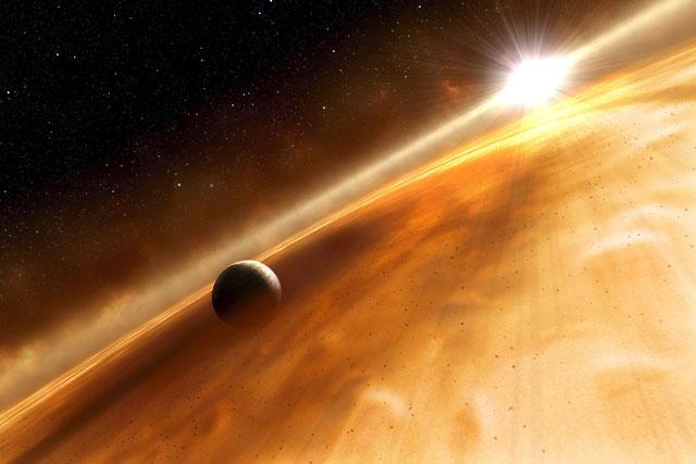El Hubble capta la primera instantánea de un planeta circulando alrededor de una estrella a 25 años luz