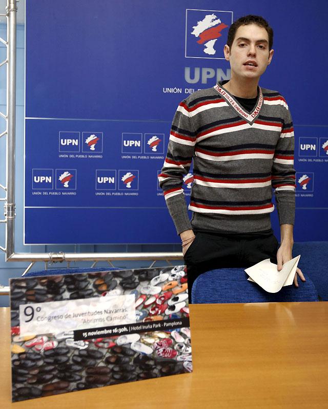 Sergio Sayas, único candidato a la Presidencia de Juventudes Navarras