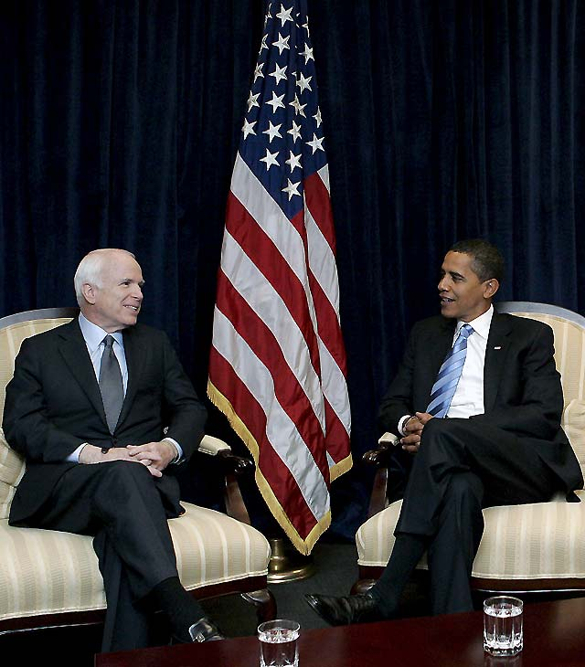 Obama y McCain se reunieron para hablar de cooperación