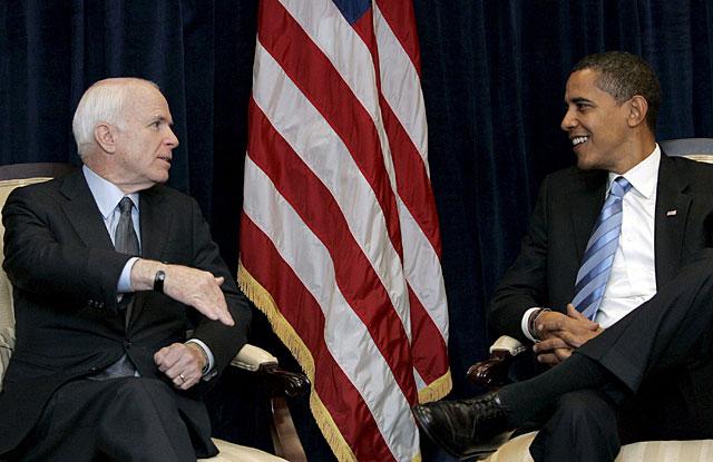 Obama y McCain quieren cooperar para resolver la crisis económica
