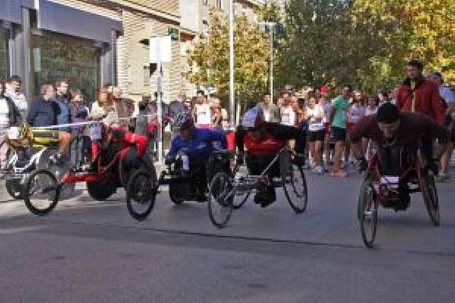 Los colegios de Tudela participan en la carrera popular de Amimet