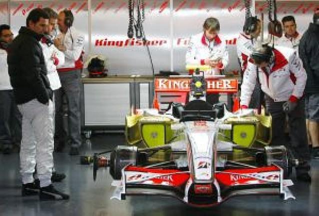 De la Rosa pilotó el Force India en Montmeló