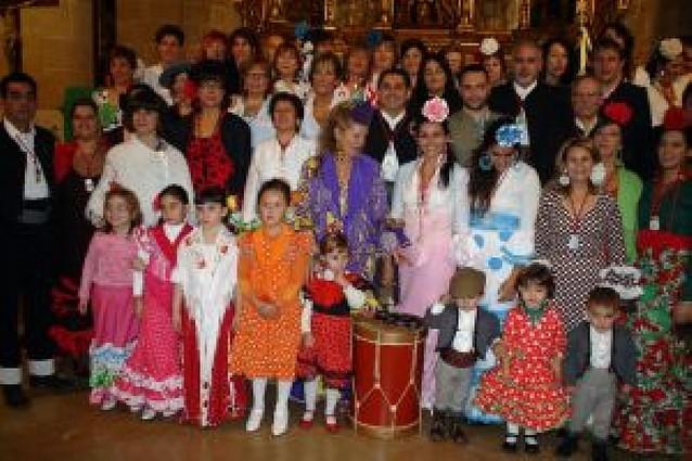 La localidad acoge la fiesta anual de la Hermandad Rociera de Navarra