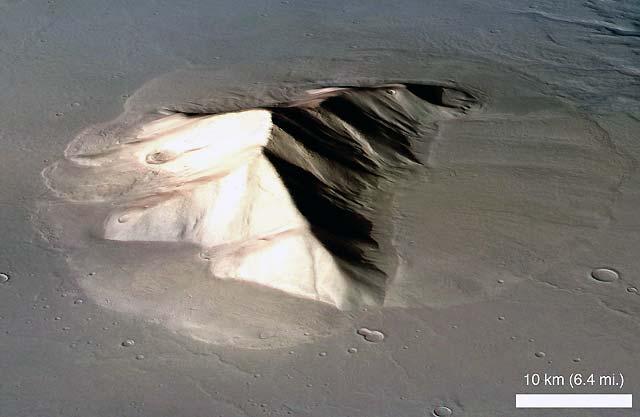 Descubren inmensos glaciares ocultos y lejos de los polos marcianos