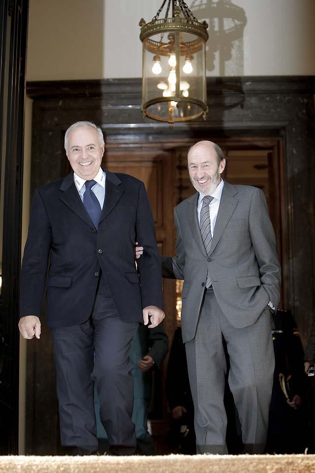 José Luis Moreno agradece a Rubalcaba el trabajo de las Fuerzas de Seguridad