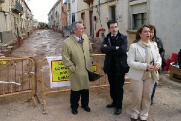 Las obras de mejoras en siete calles de la localidad concluirán en cinco meses