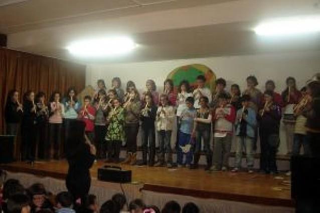Un concierto escolar en Andosilla