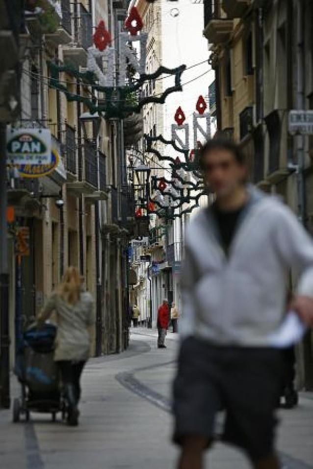Microbombillas de bajo consumo iluminarán las calles de Estella en Navidad