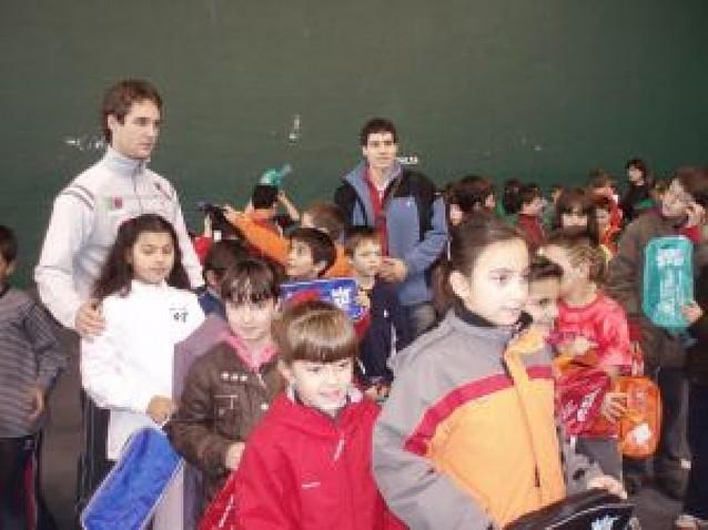 Los escolares de Mendavia participan en una jornada deportiva contra la droga