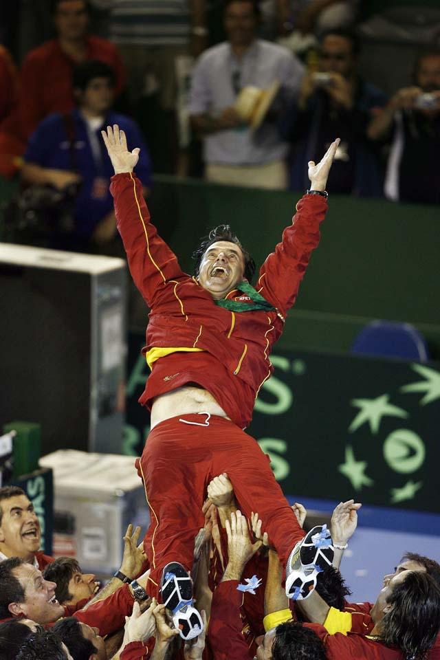 Más de 3,5 millones de personas de media vieron ganar a España en TVE su tercera Copa Davis