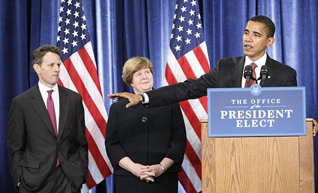"""Obama elige un equipo económico para una crisis de """"proporciones históricas"""""""