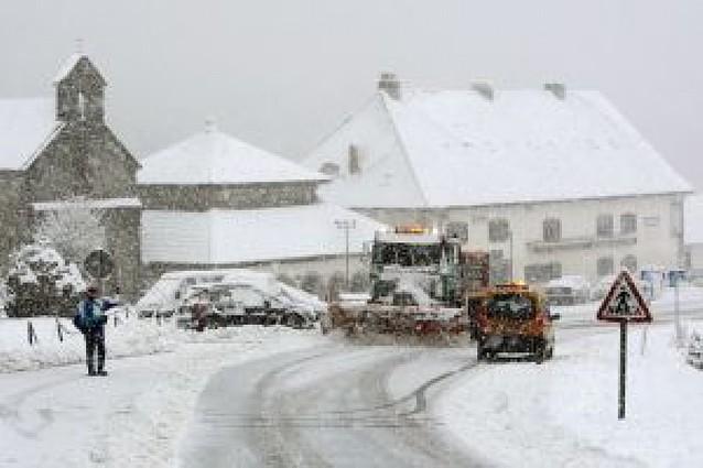 El temporal de nieve llegó por el norte