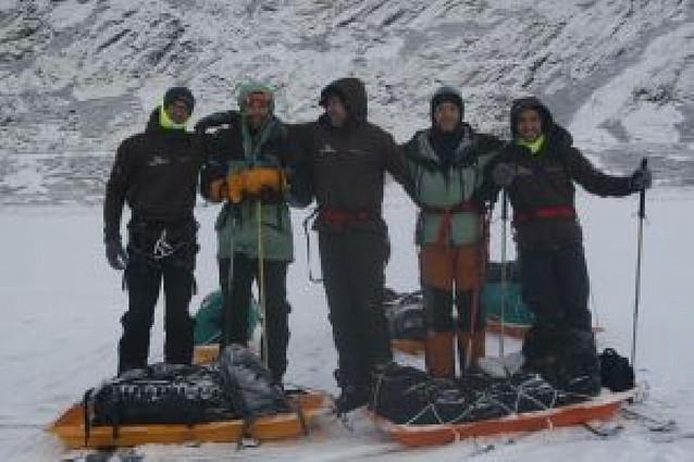 Ignacio Oficialdegui preparó en Groenlandia su intento al Polo Sur
