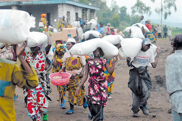 Testigos del drama en el Congo
