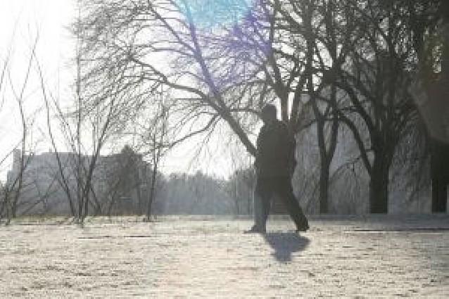 Pamplona vivió la noche más fría del año con -4 grados