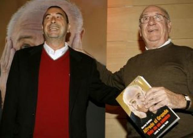 Landa y Garci certifican su amistad en la presentación de la biografía del actor