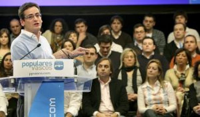 Basagoiti , presentado como candidato del PP a presidir el Gobierno Vasco