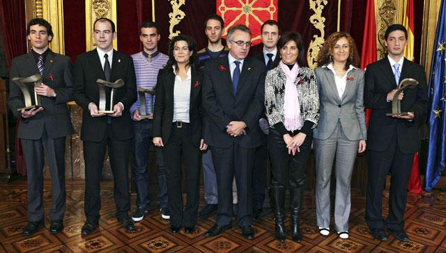 El presidente del Gobierno de Navarra entrega los Galardones de Juventud 2008
