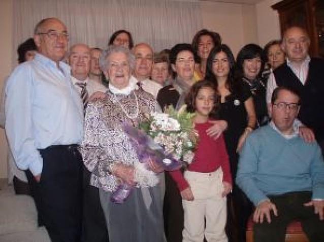 Concepción Ganuza Sánchez, de Dicastillo y vecina de Estella, cumplió ayer 100 años
