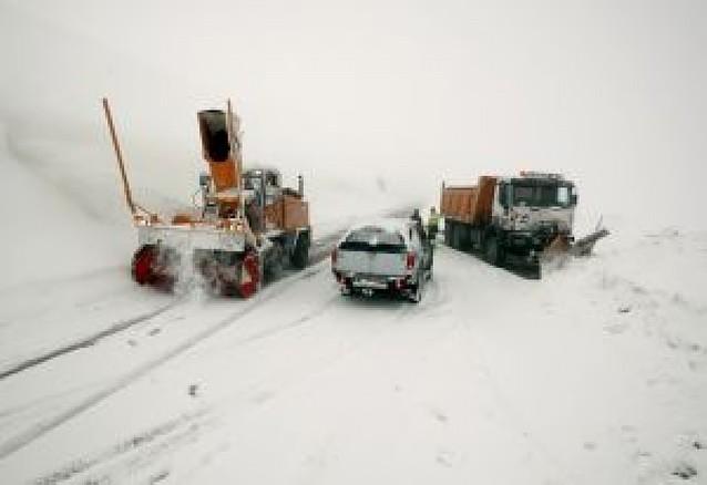La nieve se localizó en los valles de Roncal, Aezkoa y en Roncesvalles