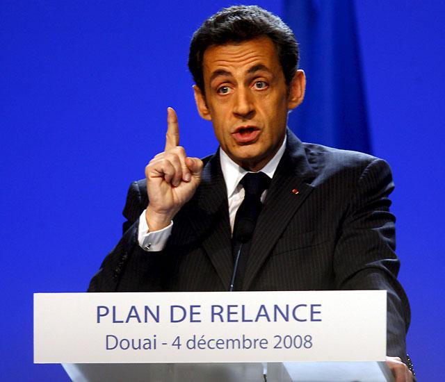 Sarkozy presenta un plan de 26.000 millones de euros para estimular la economía francesa