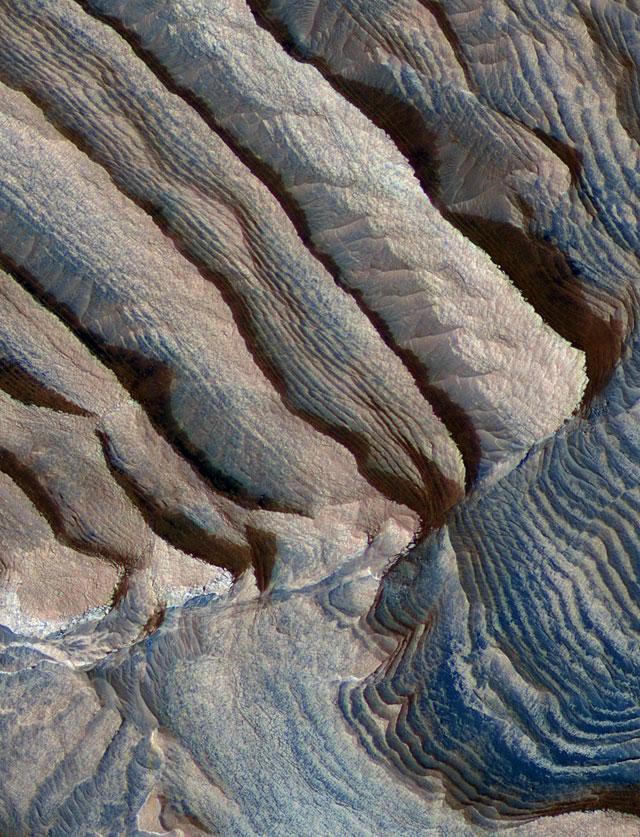 La estratificación de las rocas marcianas sugiere un clima cíclico como el de la Tierra