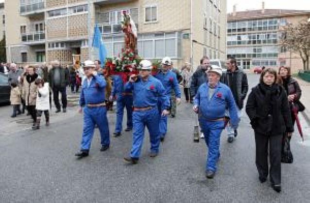 Los antiguos mineros de Potasas volvieron a celebrar la fiesta de Santa Bárbara