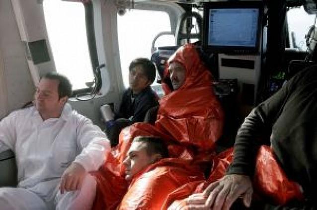 Tres marineros muertos y cinco desaparecidos en un naufragio
