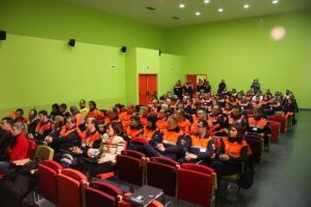 Voluntarios de Protección Civil analizan sus protocolos de actuación en Tudela
