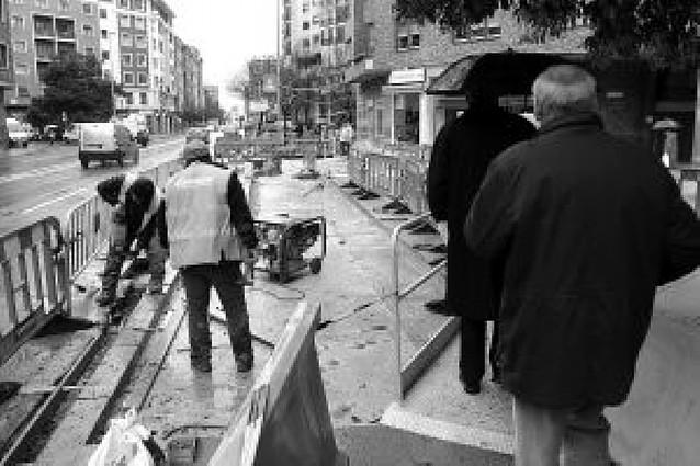 La calle Tudela de Pamplona se abrirá reurbanizada para Navidad