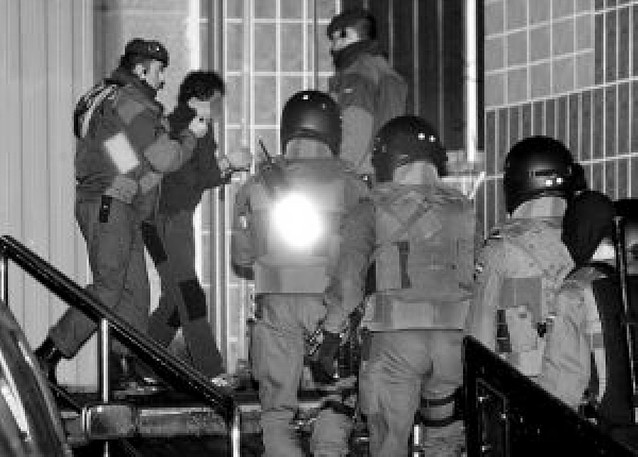 Relación de dos detenidos con ANV