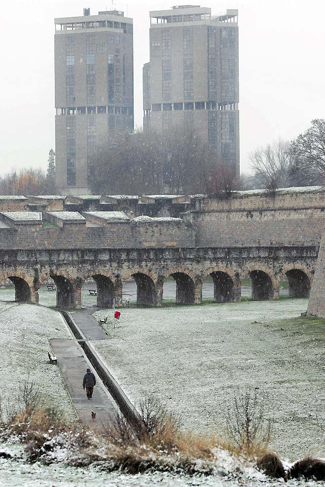 Pamplona amaneció blanca