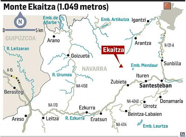 Buscan a dos montañeros de Pamplona perdidos en el monte Ekaitza