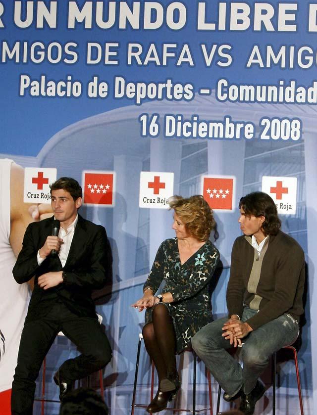 Casillas, Alonso y Contador se medirán a Nadal, Eto'o y Sastre contra la malaria