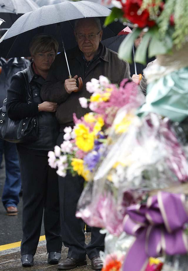 La familia de Inaxio Uría vuelve a recordarle dos semanas después de su asesinato