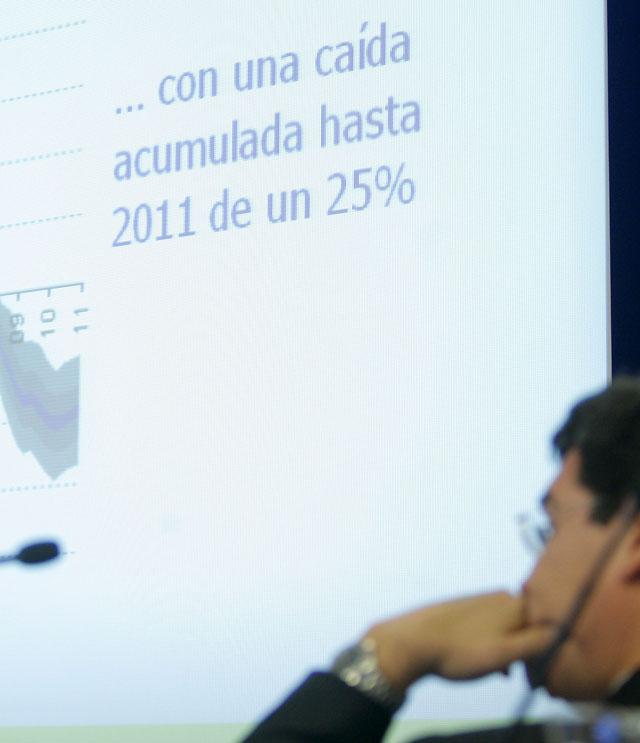 El BBVA anuncia un descenso del precio de la vivienda del 5 por ciento en 2009