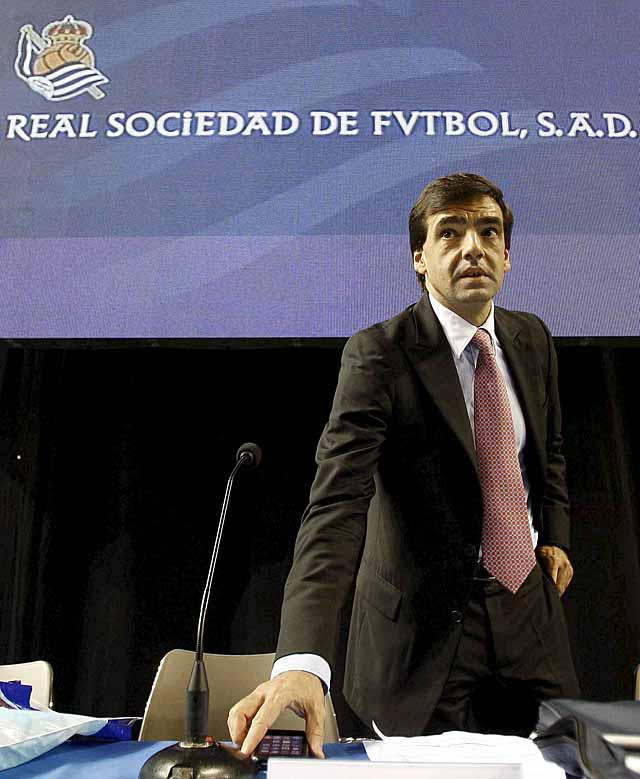 Iñaki Badiola deja de ser presidente de la Real Sociedad en favor de Jokin Aperribay