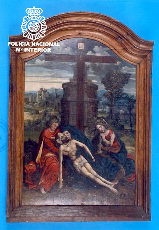 Recuperada una tabla flamenca del siglo XV robada de la iglesia de Trujillo