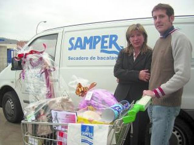 Ganadoras de las cestas de Navidad sorteadas en Huarte