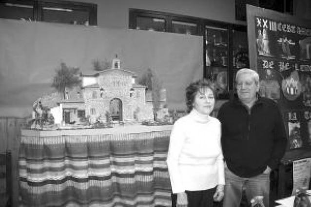 La peña La Teba premia la originalidad del belén tudelano de Bernardino Esteban