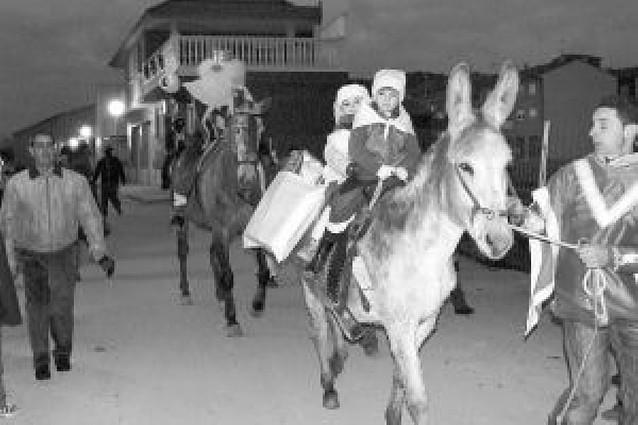 Los Reyes llegan en caballos