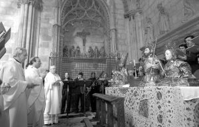 Misa de Epifanía en el día de Reyes, ayer en la Catedral de Pamplona