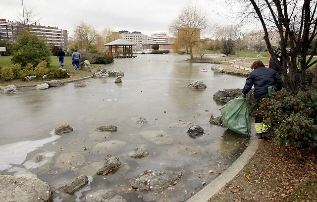 La ANE advierte del riesgo de nevadas para mañana en la Ribera y el centro de Navarra