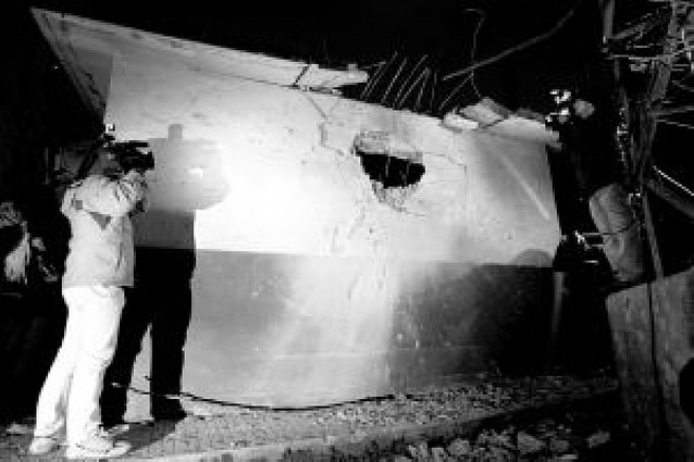 "ETA intenta una matanza de ""ertzainas"" con dos bombas trampa en Hernani"