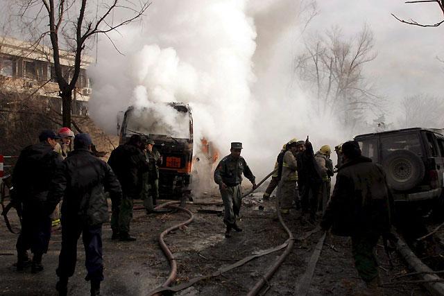 Dos muertos en un atentado contra la embajada alemana de Kabul