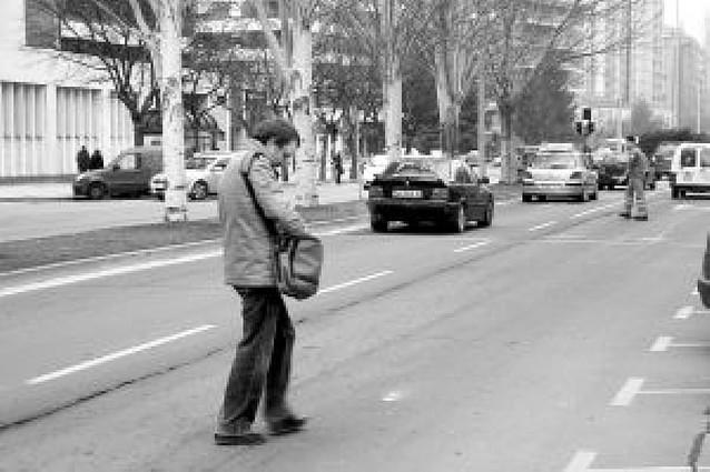 Más de la mitad de los atropellos de 2008 en Pamplona fueron en pasos de peatones