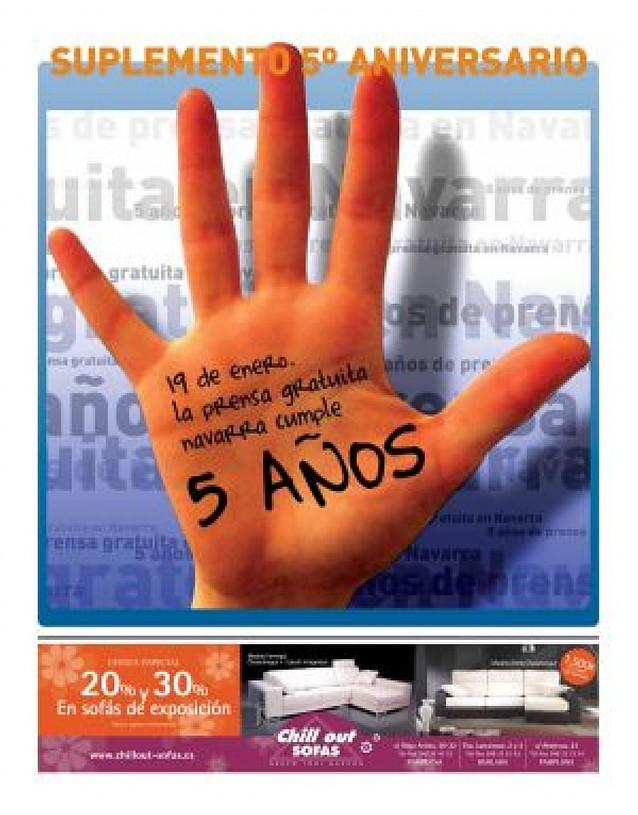 Un lustro de prensa gratuita en Navarra